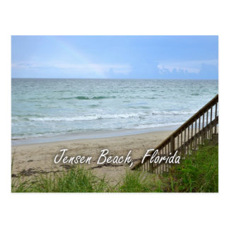 Rainbow Beach Steps Jensen Beach Florida Postcard
