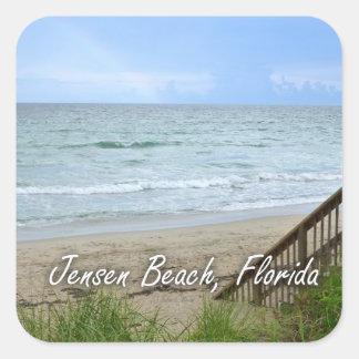 Rainbow Beach Steps Jensen Beach Florida Sticker