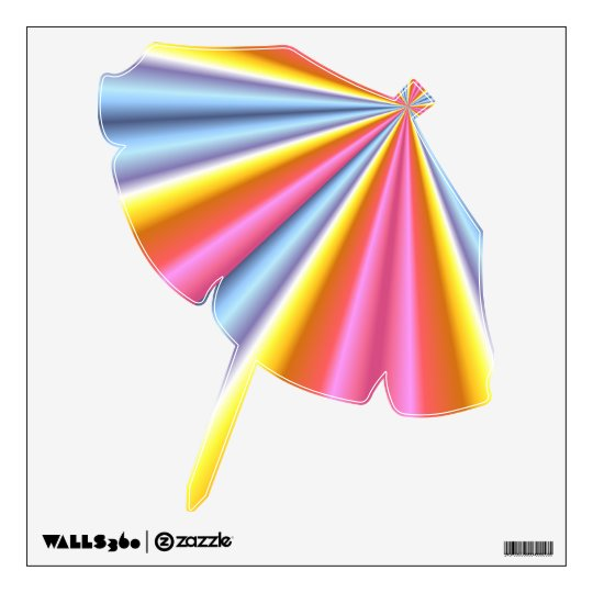 Rainbow Beach Umbrella Wall Sticker