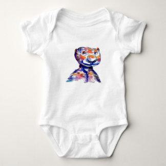 Rainbow bear baby bodysuit