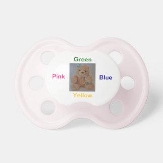 Rainbow bear pacifier
