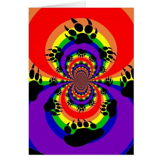 Rainbow Bear Paw Polar Inversion Card