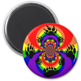 Rainbow Bear Paw Polar Inversion Magnet