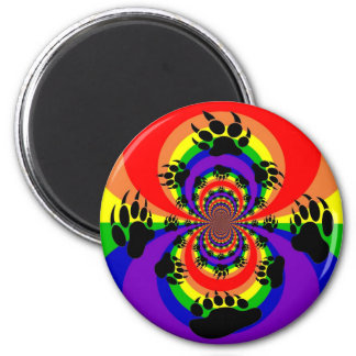 Rainbow Bear Paw Polar Inversion Magnet
