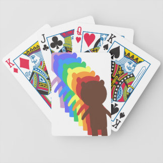 Rainbow Bear Bicycle Playing Cards