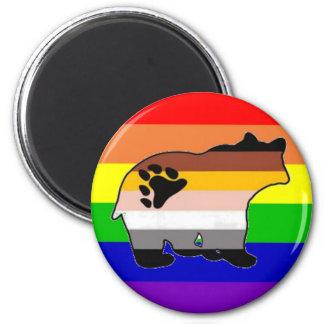 Rainbow Bear Pride Magnet
