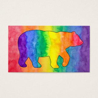 Rainbow Bear Watercolor Wash Business Card