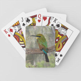 Rainbow bee-eater bird, Australia Playing Cards