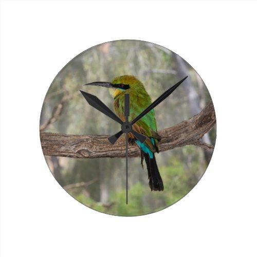 Rainbow bee-eater bird Clock