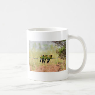 RAINBOW BEE EATER BIRD QUEENSLAND AUSTRALIA COFFEE MUG