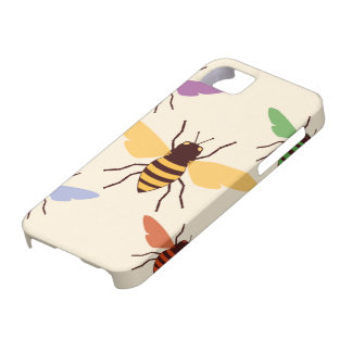 Rainbow bees bumblebees vintage insect pattern iPhone SE/5/5s case