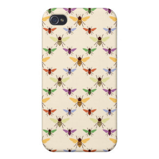 Rainbow Bees iPhone 4 Cover