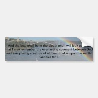 Rainbow Bible Scripture Car Bumper Sticker