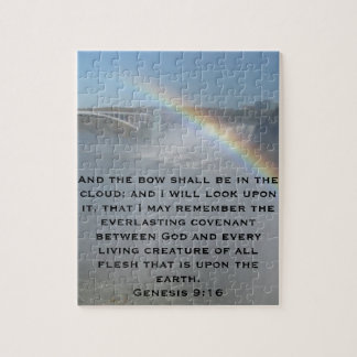 Rainbow Bible Scripture Jigsaw Puzzle