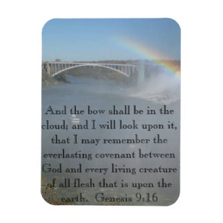 Rainbow Bible Scripture Magnet