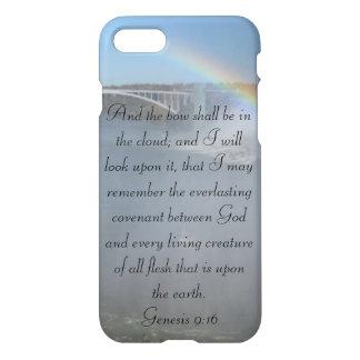 Rainbow Bible Verse Standing on Gods Promise iPhone 7 Case