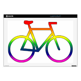 Rainbow Bicycle 17 Inch Laptop Skin