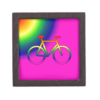 Rainbow Bicycle 2 Inch Gift Trinket Box