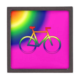 Rainbow Bicycle 3 Inch Premium Gift/Jewelry Box