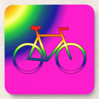 Rainbow Bicycle Cork Coaster (Set of 6)