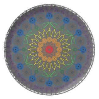 Rainbow Bicycle Mandala Plate