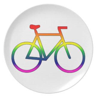 Rainbow Bicycle Melamine Plate