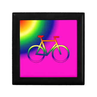 Rainbow Bicycle Small Tile Gift Box