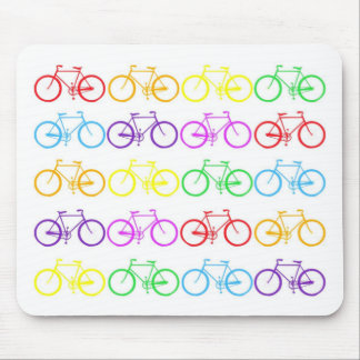 Rainbow Bicycles ! Mouse Pad