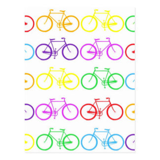 Rainbow Bicycles ! Postcard