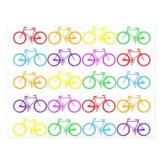 Rainbow Bicycles ! Postcard