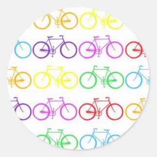Rainbow Bicycles ! Classic Round Sticker