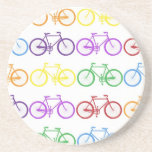 Rainbow Bicycling Classy Designer Beverage Coaster