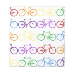 Rainbow Bicycling Classy Designer Note Pad