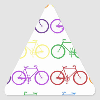 Rainbow Bicycling Classy Designer Triangle Sticker