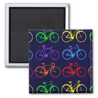 Rainbow Bikes 2 Inch Square Magnet