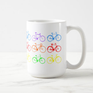 Rainbow Bikes Classic White Coffee Mug