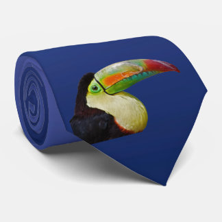 Rainbow-Billed Tou Can Do It Tie (Light/Dark Blue)