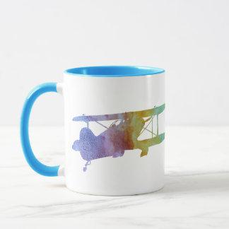 Rainbow Biplane Mug