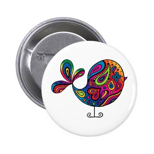 Rainbow Bird Button