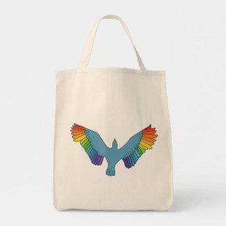 Rainbow Bird Canvas Bags