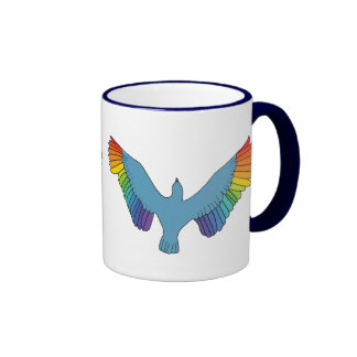Rainbow Bird Coffee Mugs