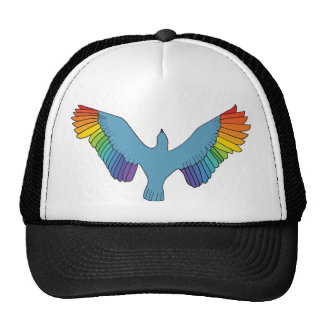 Rainbow Bird Mesh Hat