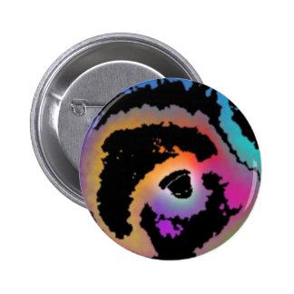 Rainbow Bird Pinback Buttons