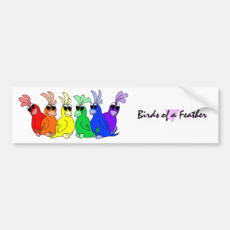 Rainbow Birds Bumper Sticker
