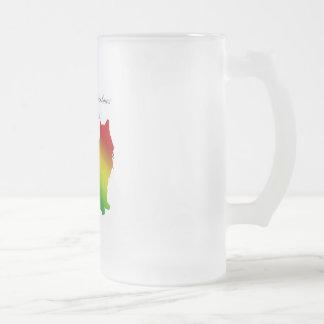 Rainbow Birman 2 Frosted Glass Beer Mug