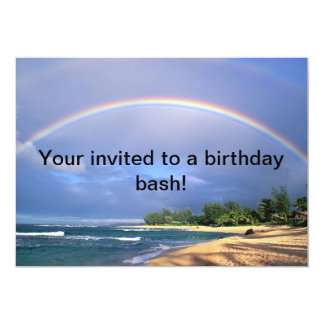 Rainbow birthday bash invitation