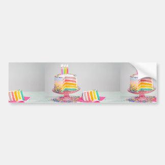 rainbow Birthday Cake Bumper Sticker