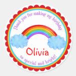 Rainbow Birthday Favor stickers