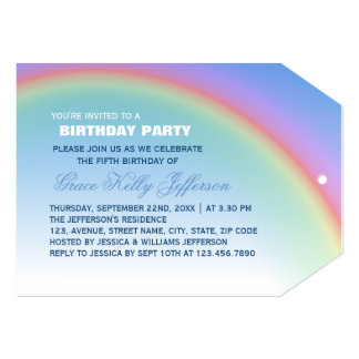 Rainbow Birthday Party Card