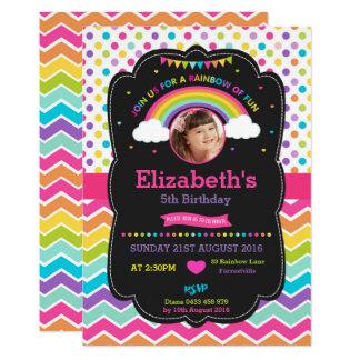 Rainbow Birthday Party Invitation Card Photo